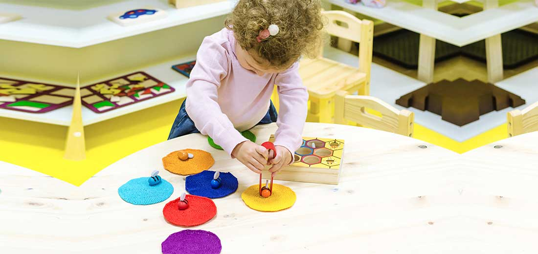 Montessori child development. occupation of the child at home. fine motor skills. stay at home